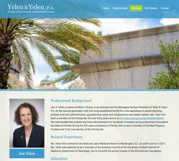 Florida Law Firm Website Design Dan Gilroy Design