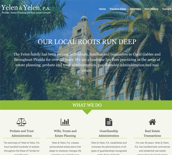 Screenshot of Florida Law Firm Website Design Home Page